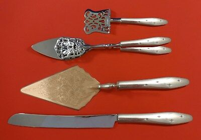 Dawn Star by Wallace Sterling Silver Dessert Serving Set 4pc Custom Made
