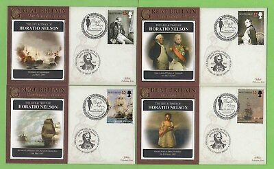 Montserrat 2008 Life and Times of Horatio Nelson, four covers
