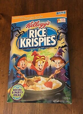 RICE KRISPIES - Halloween Cereal -RARE-  New Sealed 2013 - expired 8/14