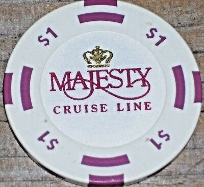 $1 Gaming Chip From The Majesty Cruise Lines Casino