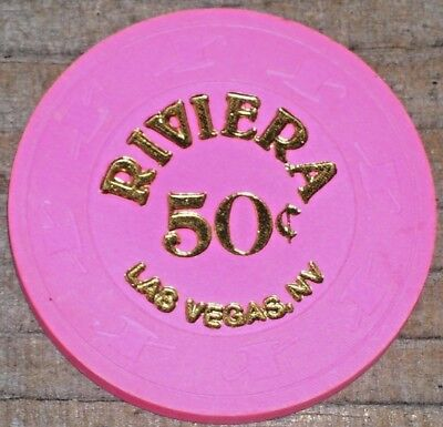 .50 Fractional Gaming Chip From The Riviera Casino Las Vegas Nv
