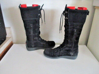 Women's The North Face Tall lace up moc toe winter boots suede black sz 8.5 M