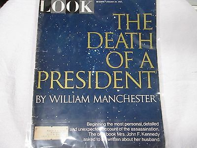 January 24, 1967 LOOK Magazine -THE DEATH OF A PRESIDENT VINTAGE MAGAZINE