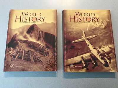 BJU Press World History w/Student Activities in Back Book A and B 3rd Edition