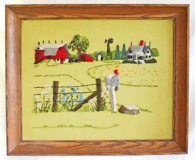 Americana Vintage Needlework Country Red Barn  Dutch Colonial Farmhouse Mailbox
