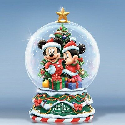 Mickey and Minnie s Merry Christmas Miniature Snow Dome / Water Globe  - Disney