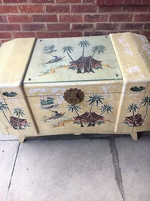 Vintage Oriental Camphor Wood Chest