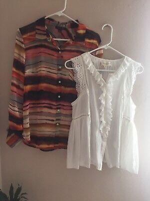 Lot Of 5 Macy S Lcreation Tops Blouses In New Or Euc Size M L Max