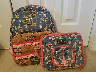 Matilda Jane Scholarly Me BackPack  and Lunch Buddies lunchbox NWT