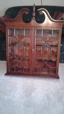 Vintage Mahogany Hanging or Table Top Curio Cabinet