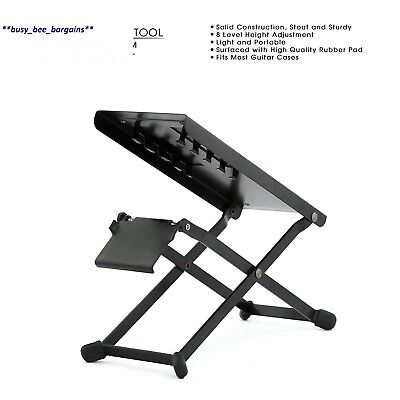 TENOR TFRM Professional Metal Guitar Foot Rest, Sturdy Stool, Support for...