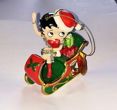 Danbury Mint BETTY BOOP 2006 Christmas First Annual Holiday Ornament