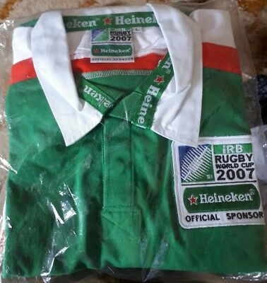 Rugby jersey - Rugby World Cup 2007, Heineken Official Sponsor. Rugby Union