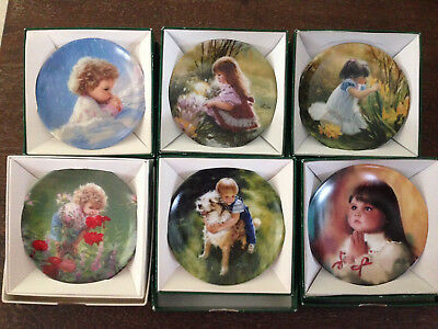 Donald Zolan Lot of 6 Collectible Miniature Plates w/COA's Mint never displayed