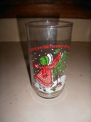 Holly Hobbie Limited Edition Coca Cola Christmas Drinking Glass American Grtg.