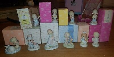 large lot of Precious Moments figures 10 figures FREE SHIPPING