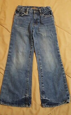 Boys, Old Navy Boot-cut Blue Jeans , Size 7 Slim