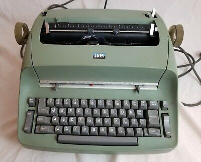 IBM Selectric I Green Typewriter Vintage Electric