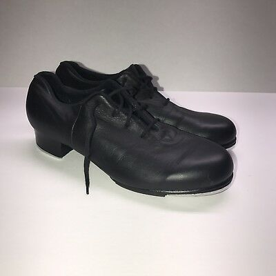 Bloch Shockwave #2 Black Leather Lace Up Womens Tap Shoes Size 7M