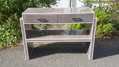A Beautiful & Stylish Contemporary Grey & White Hall Console/ Dressing Table