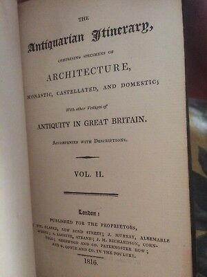 the antiquarian itinerary 1816 vol 2 book 1st edition london architecture London