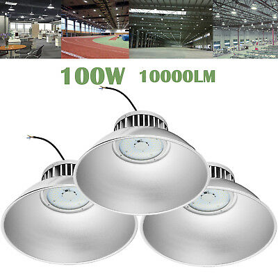 3X 100W LED High Bay Light Industrial Lamp Factory Warehouse Roof Shed Lighting