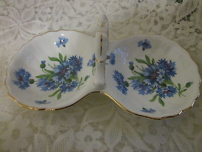 Classic Hammersley & Co Blue Corn Flower Made in England TWIN BOWL