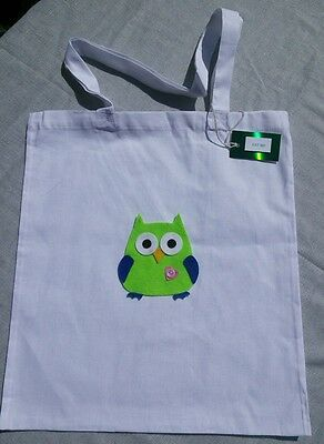 Felt Owl on Large Cotton Gift Bag with tag for Teacher/Birthday/Party/Graduation