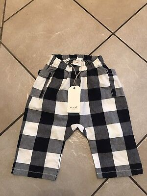 SEED BABY Boys Harem Style Pants Size 12-18 Months BNWT