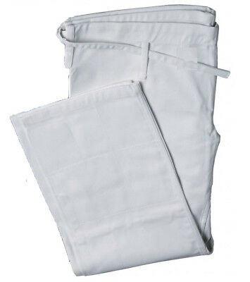 Kids / Adult Cotton Student Judo Pants - White - Training Trousers