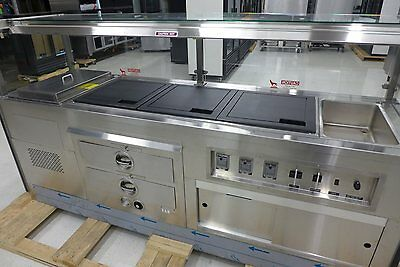 NEW Custom Deli 8' Heated Meat Carving Station Display Buffet Cold Well Bun Warm