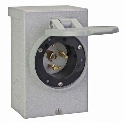 Power Distribution Inlet Box 50 Amp Electrical Transfer Switches Outdoor Use