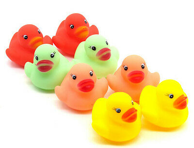 Cute Lovely Kids Children Baby Bath Time Fun Rubber Duck Squeaky Toys Gift 12Pcs