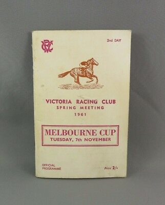 1961 VRC MELBOURNE CUP Race Book - Horse Racing Programme