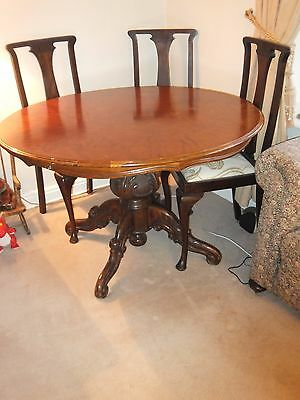 Vintage ornate heavy wooden table base