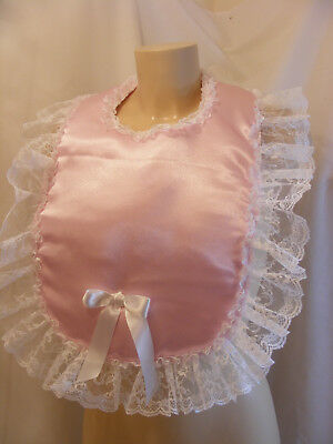 sissy adult baby customised padded bibs colour lace backing fancydress disabled