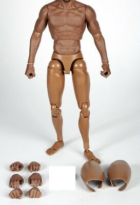 """ZCToys 006 Black 12"""" Muscular Figure Body fit For 1/6 Scale Hot Toys Head"""