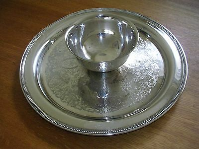 Vintage Oneida Chip and Dip Silver Plated Server