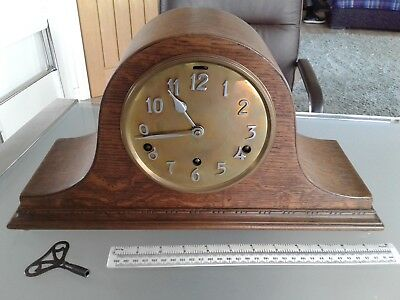 Circa 1920's NAPOLEON HAT MANTLE CLOCK ( FULL WESTMINSTER CHIMES ) key incl