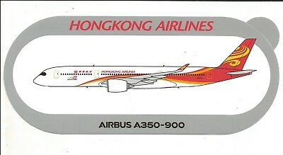 Nouveau !!! Airbus Sticker Autocollant A350-900 Hongkong Airlines - Neuf