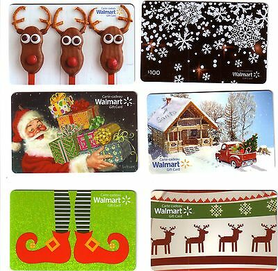 6x WALMART BILINGUAL COLLECTIBLE GIFT CARDS LOT