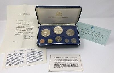 First National Coinage Of Barbados 1973 Franklin Mint Proof Set