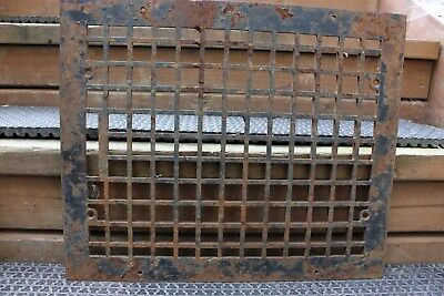 "Antique 17"" x 14 Heavy Cast Iron Floor Heating Vent Grate Hardware Home Art Deco"