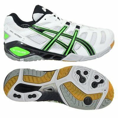 Mens ASICS Gel-Sensei 4 White Trainers Shoes Size UK 9 Indoor court Volleyball
