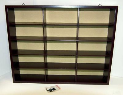 Wooden Display Case. - Dublo, + N,Gauge, Trucks, Buses, Models 1/76, 1/72, 1/148