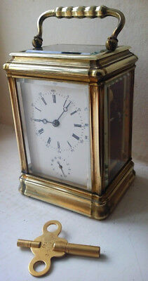 Very Special Gorge Cased Alarm Carriage Clock Very Rare with Key