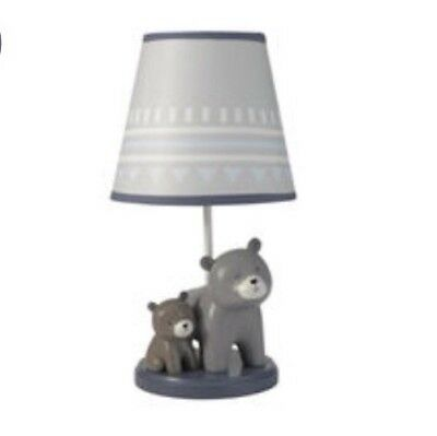 New Lambs & Ivy Signature Montana Collection Bear Lamp Base & Shade Nursery NIP