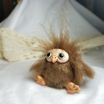 ooak polymer clay tiny BABY BIRD doll (AllieBeanDolls)