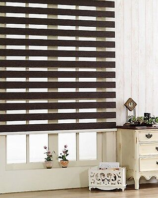 Day-Night Zebra Vision Roller Blinds  All at 240cm / 94Inches Drop Easy to Fit