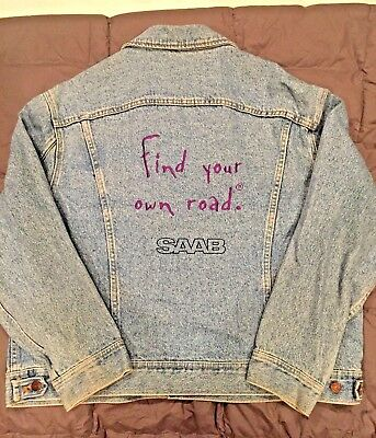 """Lee Denim - SAAB """"Find Your Own Road"""" Ad Campaign Promotional Jacket"""